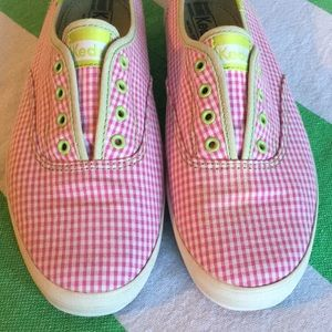 75fb8bb1aed Keds Shoes - Keds Champion Laceless Gingham Pink Green 10